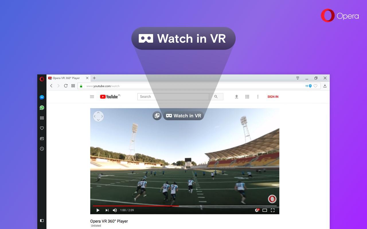 opera виртуальная реальность
