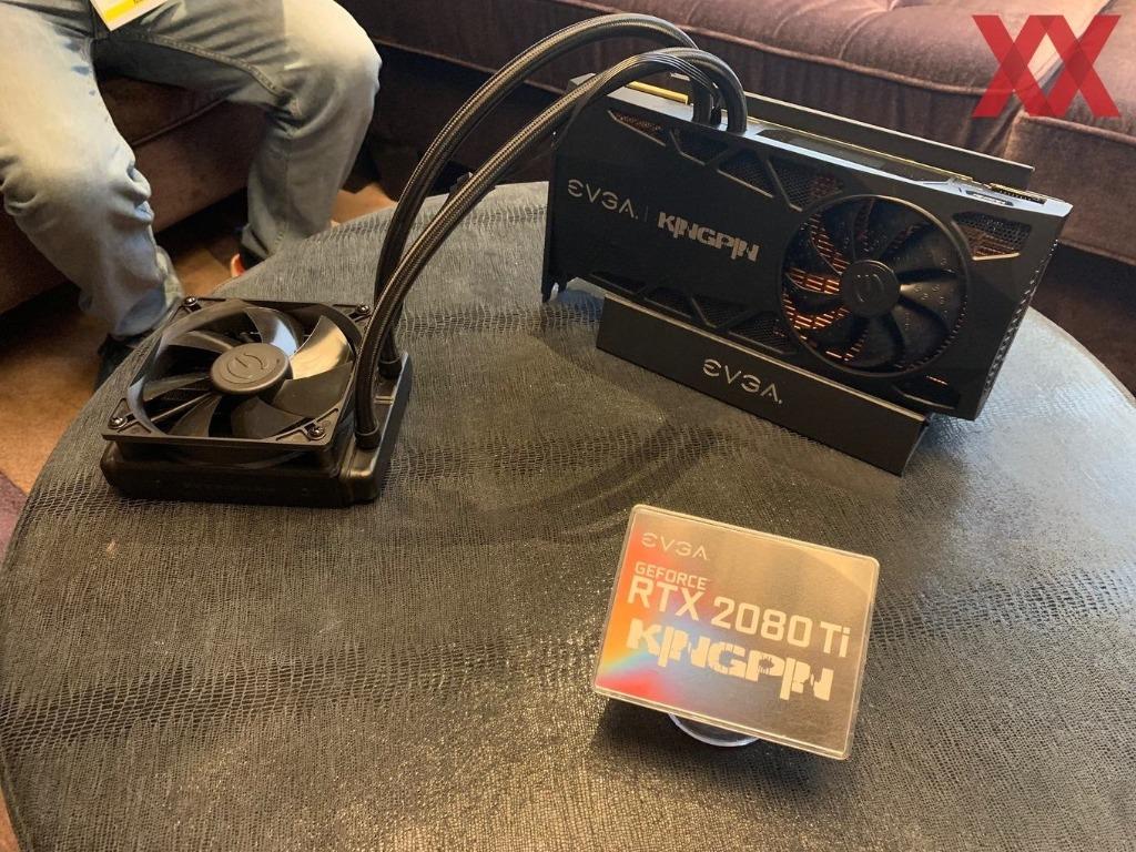 EVGA демонстрирует видеокарты RTX с водяным охлаждением